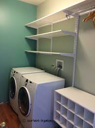 wall mounted laundry room storage shelves