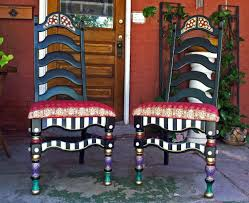 Mackenzie Childs Decorating Ideas Decorating Chic Mackenzie Child Wooden Chair Set Of 2 For Home