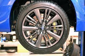 2015 wrx sti aftermarket wheel essex designed ap racing competition brake kit front cp8350 325