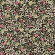 morris seaweed by morris ebony poppy wallpaper direct