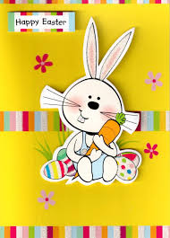 happy easter easter bunny rabbit card cards kates