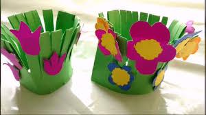 Diy Garden Crafts - easy paper craft flower garden making for kids paper craft diy
