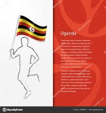 Images Of Uganda Flag Brochure With Man Holding Uganda Flag U2014 Stock Vector Ibrandify