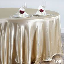 Fitted Round Tablecloth Champagne 120