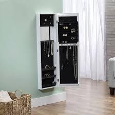 Wooden Jewelry Armoire Wooden Jewelry Armoire With Mirror Home Design Ideas