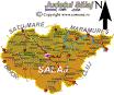 Judetul Salaj | Harta judetului Salaj