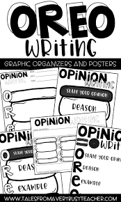 scarecrow writing paper opinion writing posters and graphic organizer oreo writing use these oreo posters and graphic organizers to help your elementary students with their opinion writing