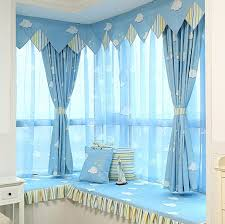 Bright Blue Curtains Blue Sky Clouds Curtain Bedroom Living Room Study Children Shading