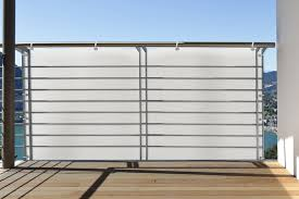 windschutz balkon stoff balkonbespannung balkonumspannung windschutz sichtschutz für