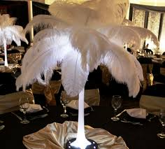 Ostrich Feather Centerpiece Ostrich Feathers