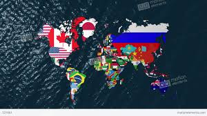 World Map Us by 3d Wide Flag World Map Zoom To Usa Stock Animation 531661