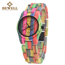 bewell 2016 fashion full bamboo wooden watch top luxury brand wood