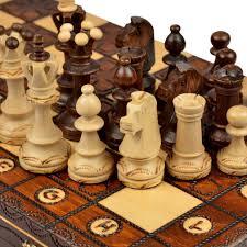 amazon com handmade european wooden chess set with 16 inch board