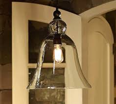 Pottery Barn Lighting Pendant Rustic Glass Pendant Light With 5 Pottery Barn And 1 O On Category