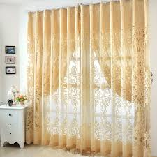 Noble Curtains Yellow Sheer Curtain In Noble Design For Bedrooms