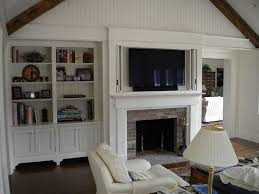 Mounting Tv Over Brick Fireplace by Best 25 Hide Tv Over Fireplace Ideas On Pinterest Barn Door