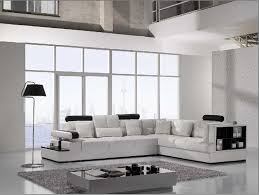 White Furniture For Living Room Amazon Com Vig Furniture T117 Modern White Leather Sectional Sofa