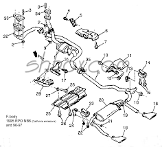 2000 camaro exhaust system 4th lt1 f tech aids drawings exploded views