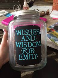 wishes and wisdom jar for graduation parties grad party