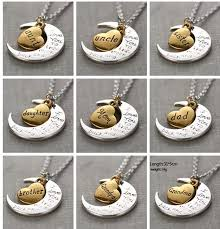 love you gold necklace images 2018 hot antique silver gold i love you to the moon and back jpg