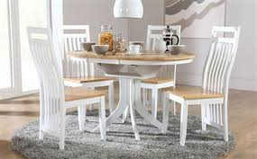 White Extending Dining Tables Dining Room Hudson Round White Extending Table With 4 Bewley