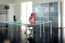 Office Glass Desk Offices Glass Desk And Cupboard Office Furniture Gallery Glass
