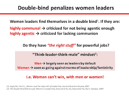 The Double Blind Job Recruitment And Retention Of Women To Leadership Positions In