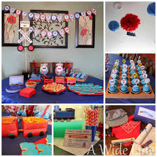 a wide line diy train themed birthday party