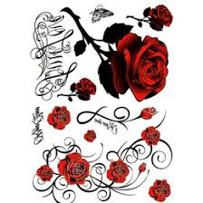 discount skull roses tattoo 2017 tattoo skull roses on sale at