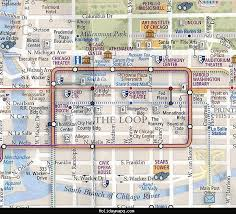 chicago map with attractions chicago el map map of usa states