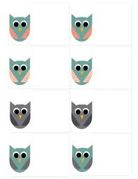 free printable owl tags owl party paper trail design