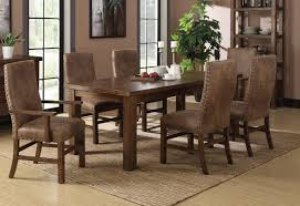 Rustic Dining Room Table Leather Dining Room Chairs Amazing Rustic 1498 Within 4 Interior