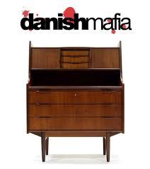 Contemporary Secretary Desk by Mid Century Danish Modern Kofod Teak Secretary Desk Dresser