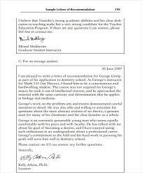 student recommendation letter reference letter sample for asample