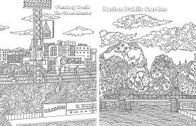 design coloring book behold this new boston themed coloring book