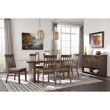 ashley furniture zilmar rectangular dining room table set in brown
