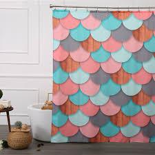orange shower curtain liner mildew free waterproof vinyl shower