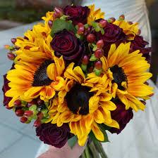 sunflower wedding bouquet fall sunflowers and wedding bouquets