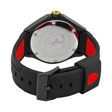 ferrari black ferrari scuderia race day black dial black and red silicone men u0027s