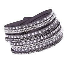 rhinestone wrap bracelet images Hot drill bangle for girl women gift handmade velvet bracelet with jpg