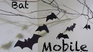 Halloween Ornaments For Tree by How To Make A Bat Mobile Halloween Decoration Youtube
