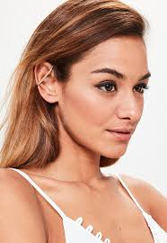 ear cuff images gold simple bar ear cuff missguided