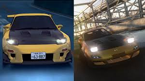 rx7 drift subtle initial d reference in the drift spec rx7 announcement