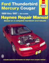car repair manuals online free 1990 ford thunderbird parental controls ford thunderbird mercury cougar repair manual 1989 1999 haynes