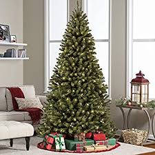 artificial christmas tree with lights amazon com holiday time artificial christmas trees pre lit 7 5