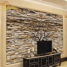 wholesale custom photo wallpaper 3d stone wall trunk wallpaper