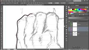336 drawing a hand clenched in a fist