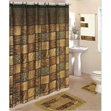Bathroom Sets With Shower Curtain And Rugs And Accessories 18 Piece Bath Rug Set Shower Curtain U0026 Towels Zebra Leopard