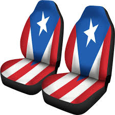 Flag Puerto Rico Puerto Rico Flag Design Royal Blue Car Seat Covers Boricua Products