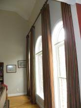 Curtains For Arch Window What To Do For An Arched Window Use Curtains The Curtain Exchange